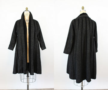 1950s LILLI ANN documented velvet SWING coat small medium | new fall