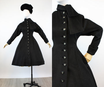 1950s PRINCESS wool neck tie coat xs | new fall