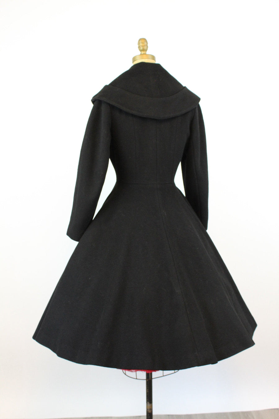 1950s CONVERTIBLE COLLAR princess coat xs | new fall
