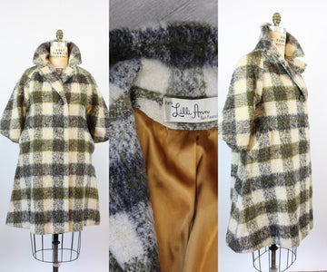 1960s PLAID Lilli Ann coat medium large | new fall