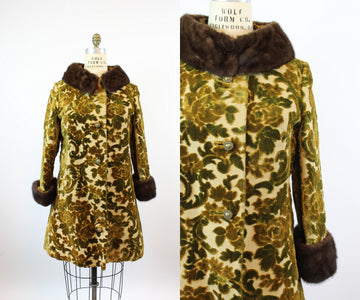 1960s LILLI ANN velvet mink fur coat medium | new fall
