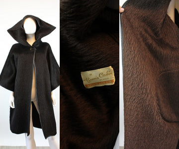 1960s BONNIE CASHIN double sided HOODED coat | new fall