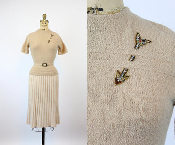 1940s ARROW knit sweater with belt xs | new knitwear
