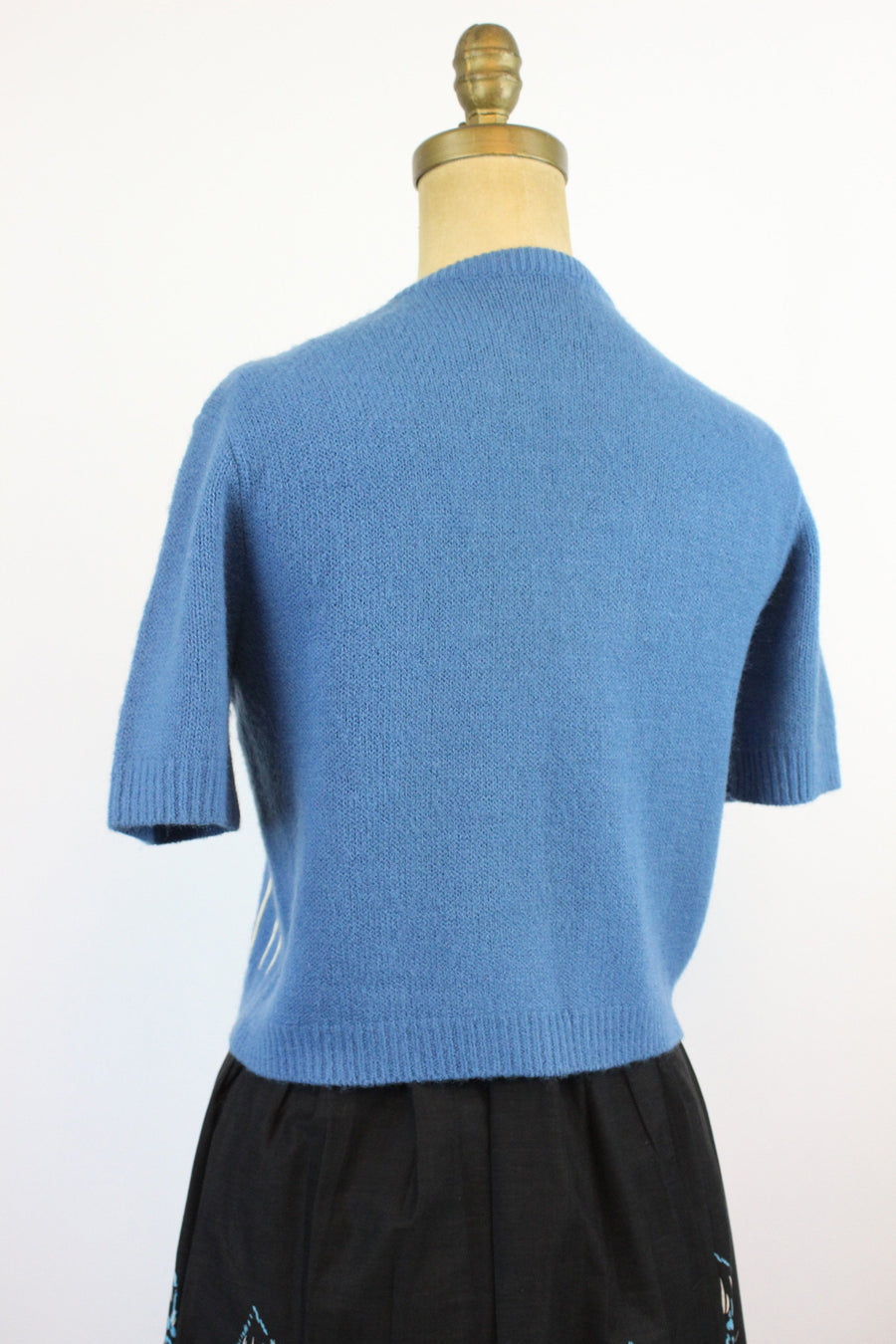 1950s cashmere OPEN FRONT cardigan small | new knitwear