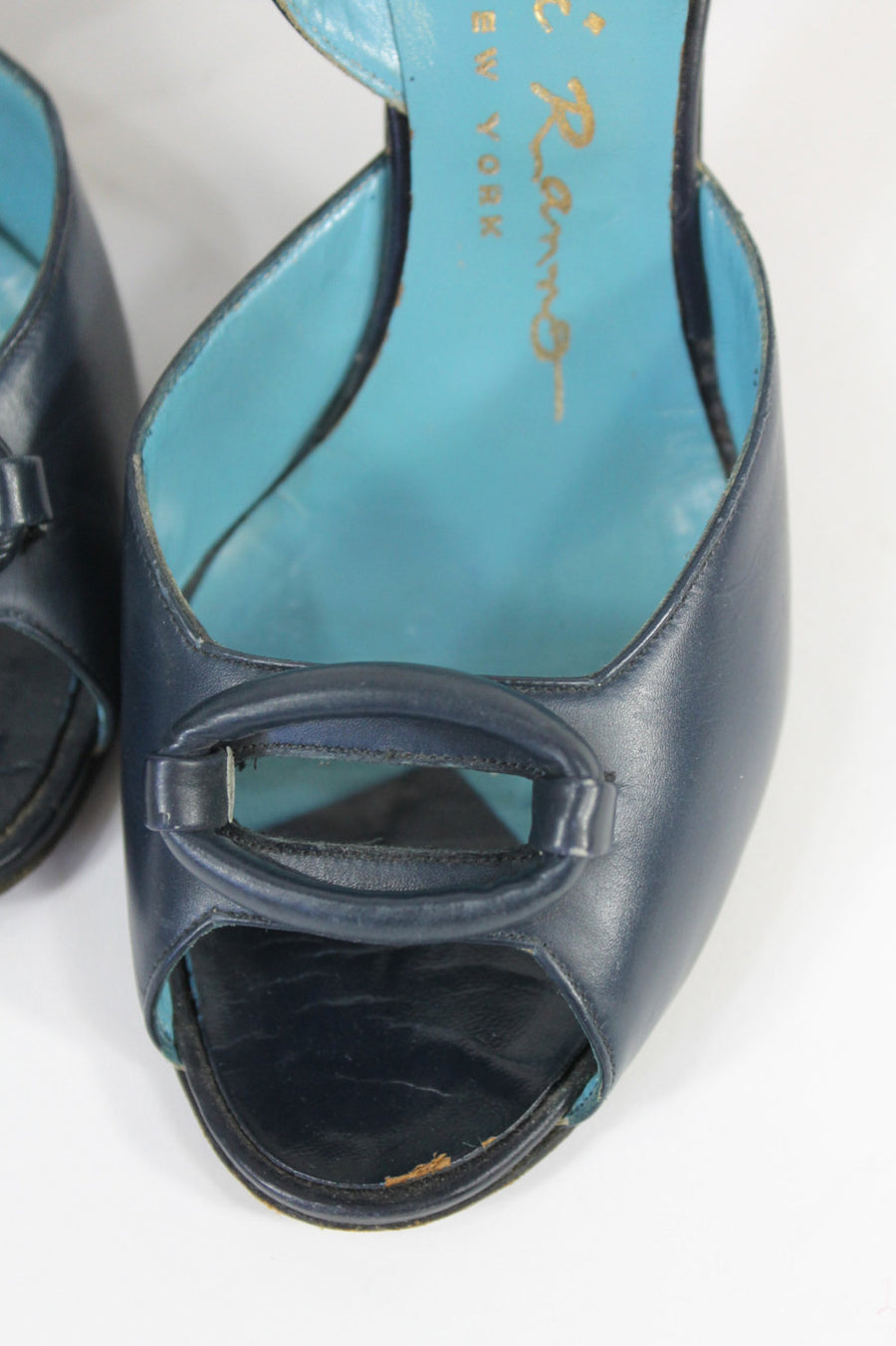 1940s peep toe shoes size 4.5 us | vintage slingback ocular window pumps | new in