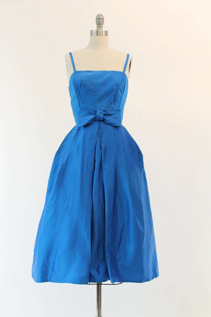 50s Satin Dress XXS / 1950s Vintage Dress Party Cocktail /  Paradise Bay Dress