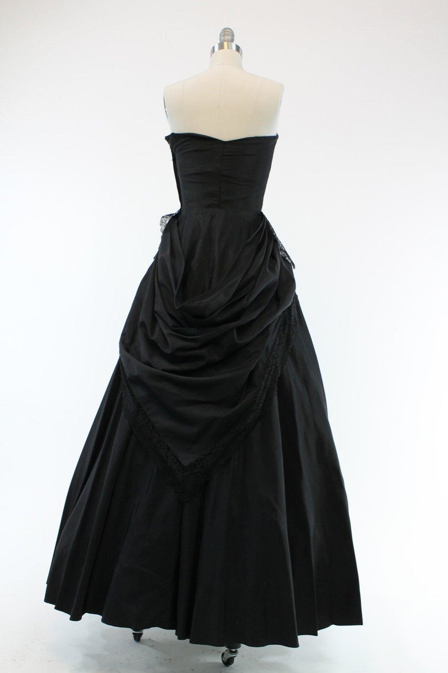 1940s Fred Perlberg dress | peplum party gown | xs