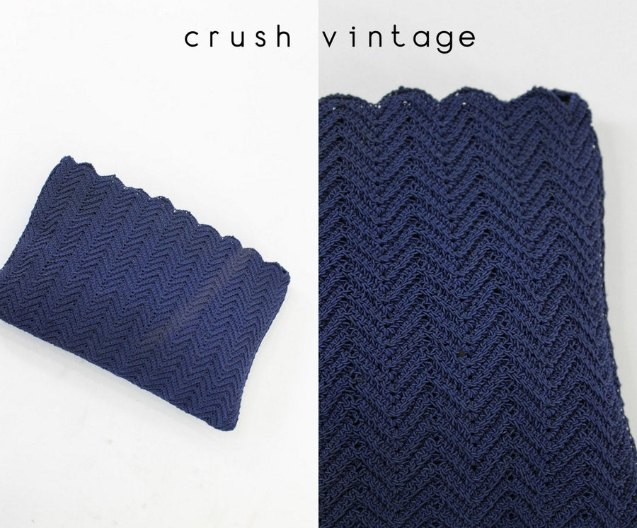 1950s crochet clutch | vintage iPad case | corded bag