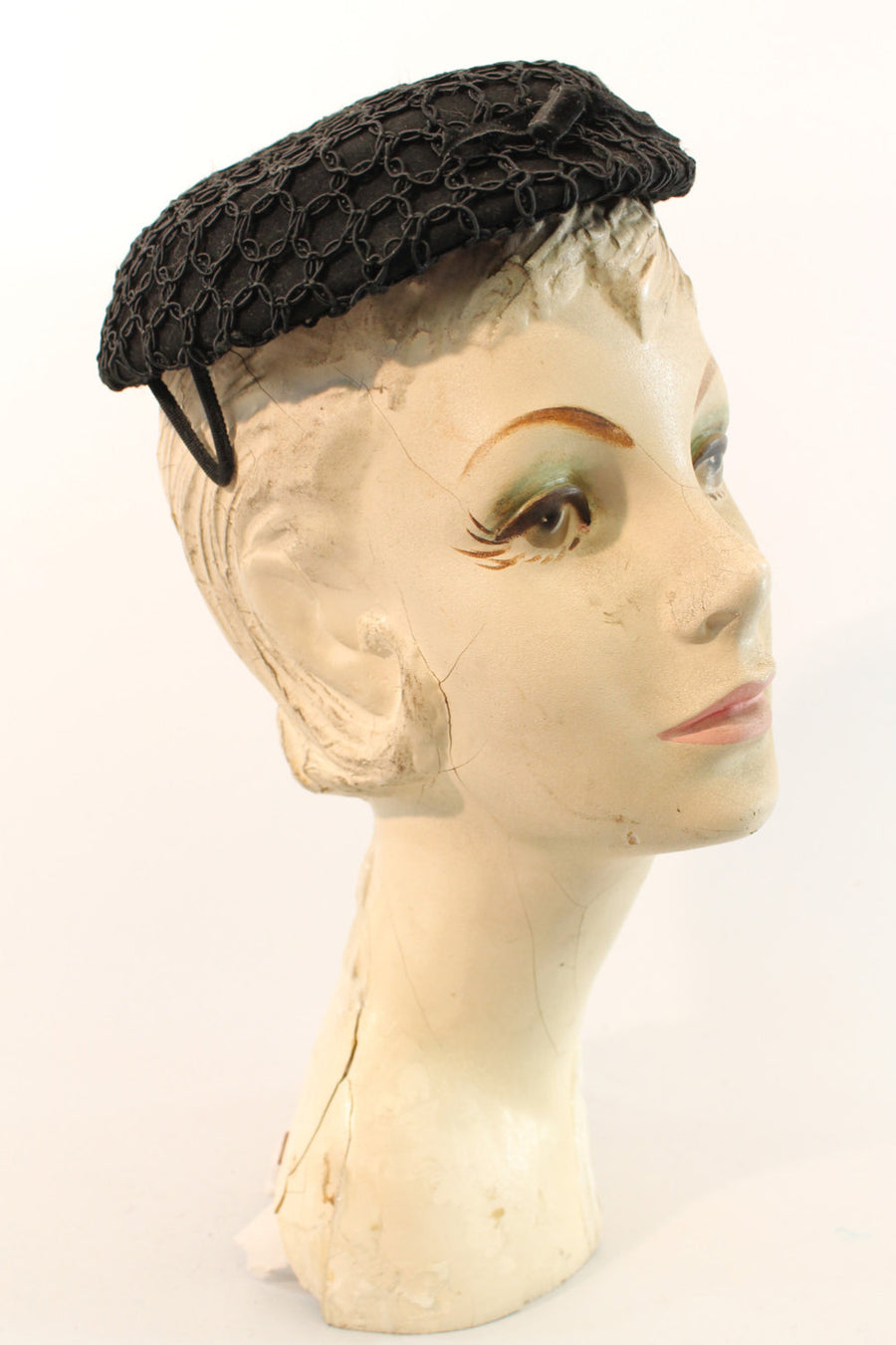 1960s Glenover soutache fascinator | tilt hat