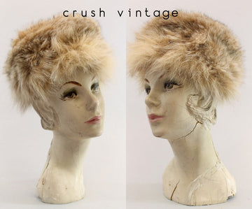 1950s fur hat Mr D  | raccoon cossack hat