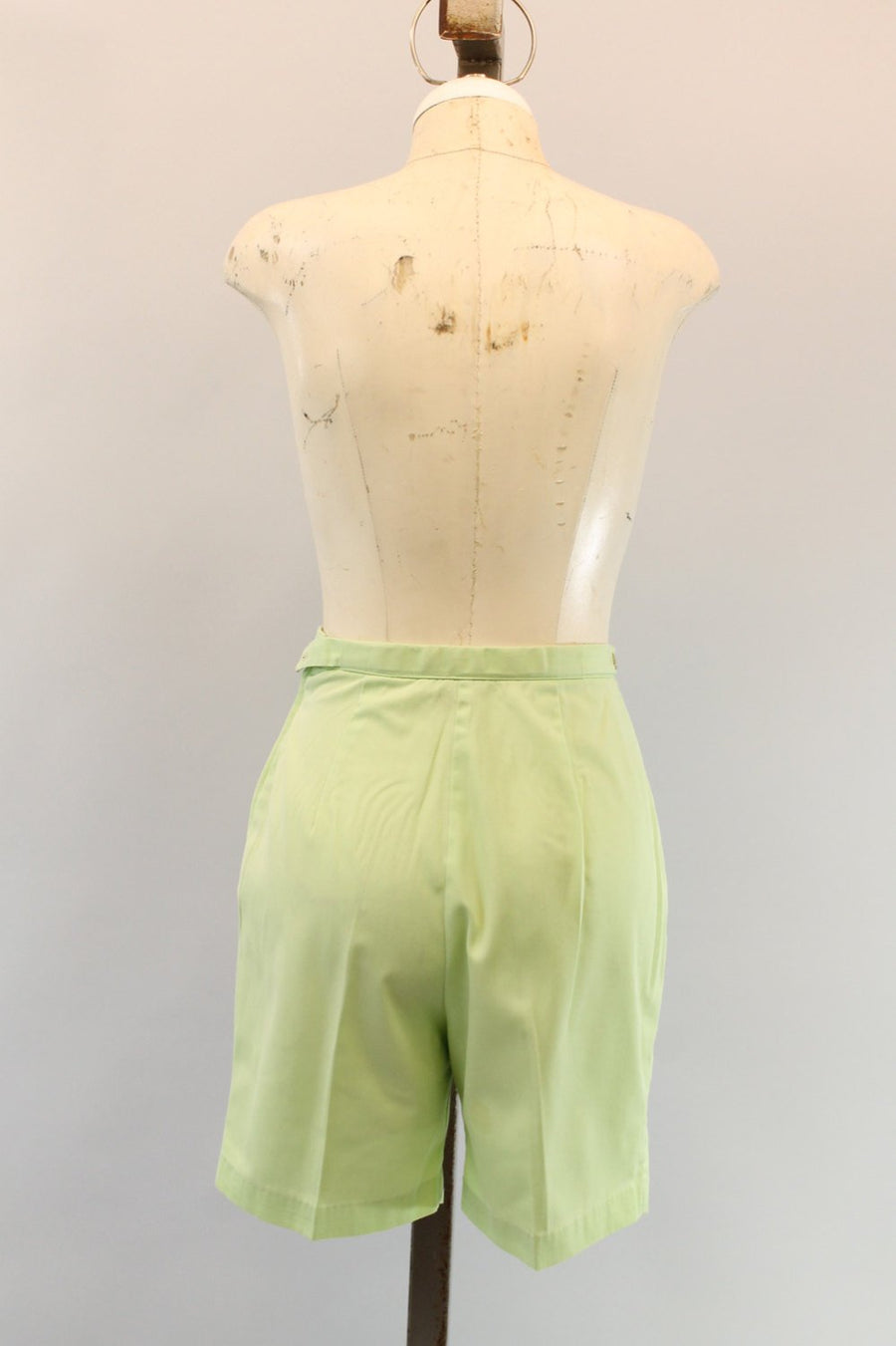 1960s Catalina shorts xs | vintage pistachio green walking shorts