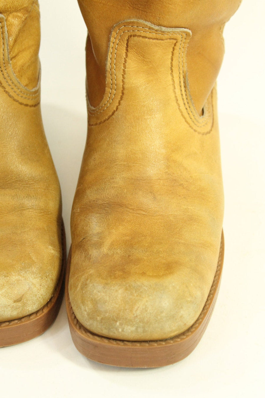 1970s leather campus boots | size 6 us