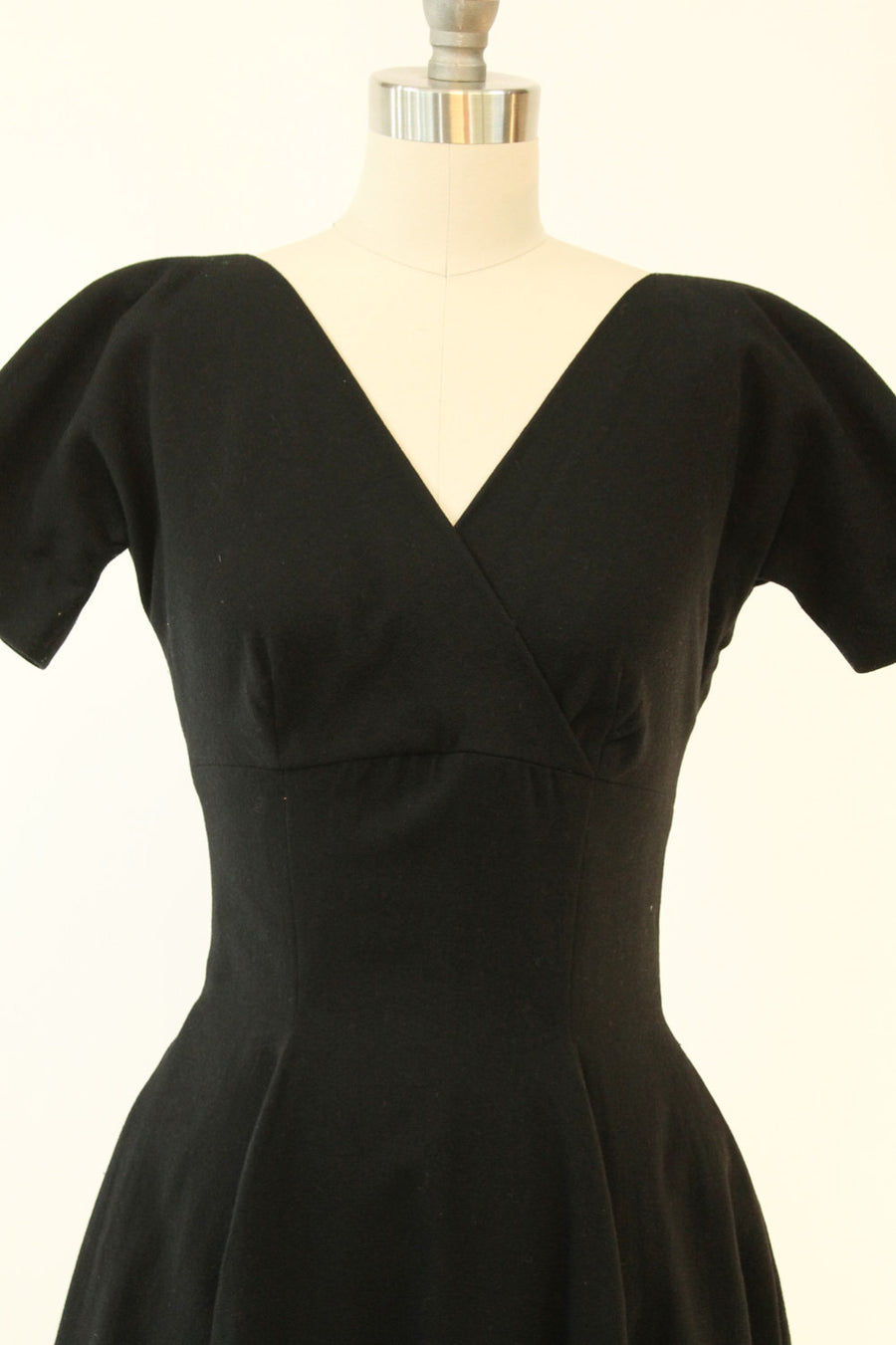 1950s Anne Fogarty dress xs | vintage wool empire dress