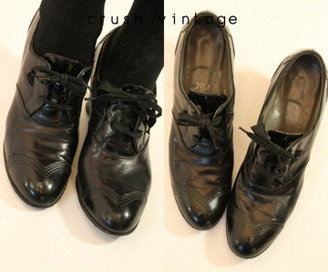 1930s Air Step shoes oxfords size 6 us | vintage lace up shoes oxfords 6