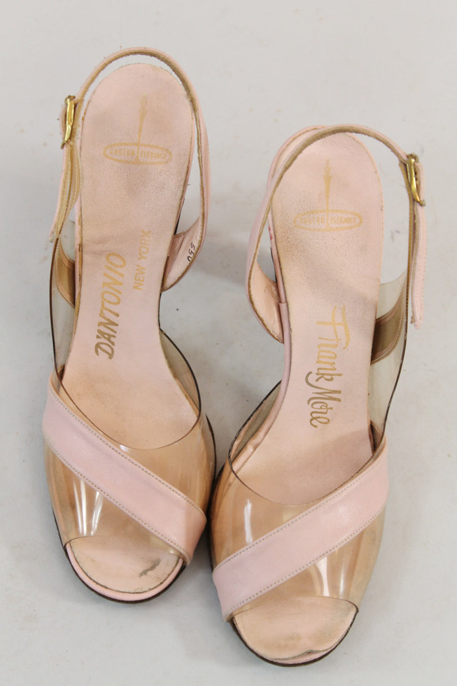 1950s Frank More lucite shoes size 6 | vintage slingback sandals