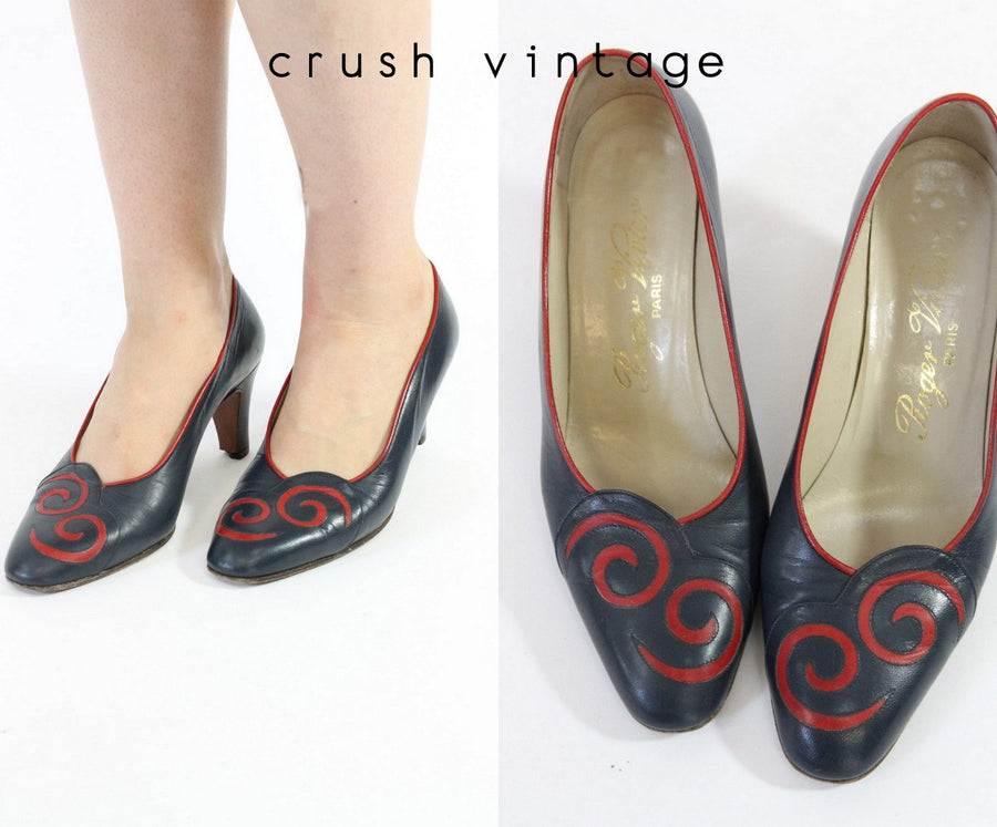 1980s ROGER VIVIER shoes | leather pumps | size 6