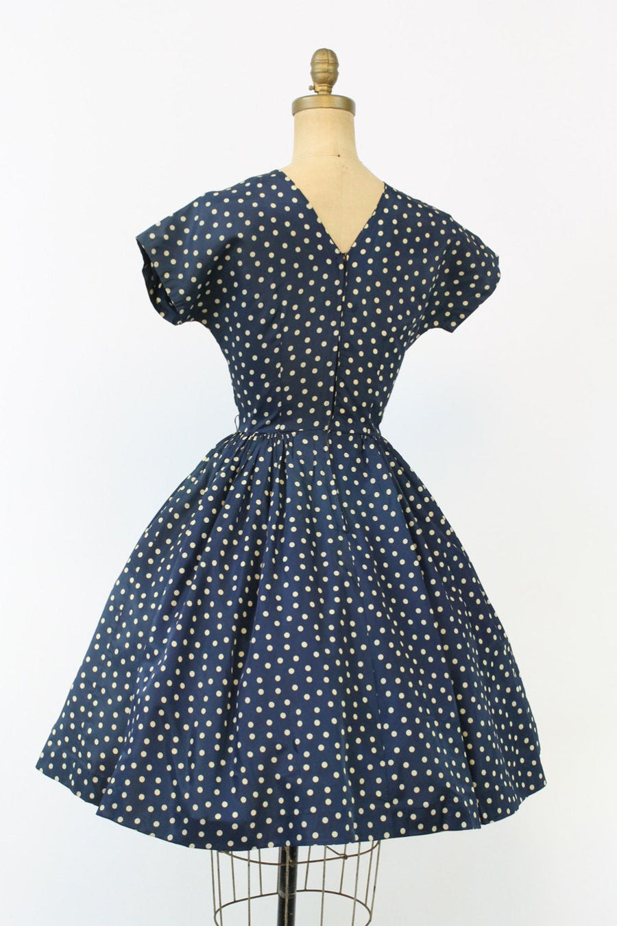 1950s polka dot dress | vintage rayon dress | new in
