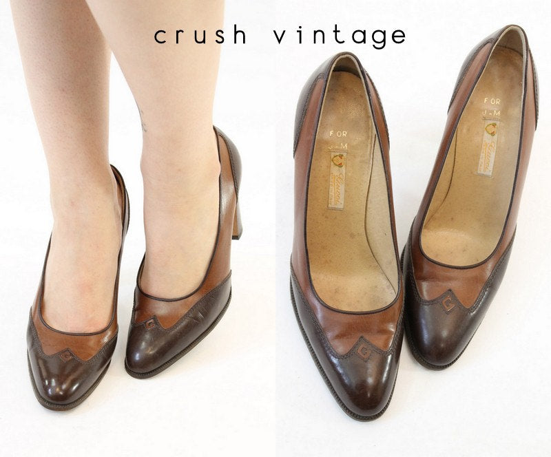 1970s GUCCI heels | vintage pump shoes | size 5.5