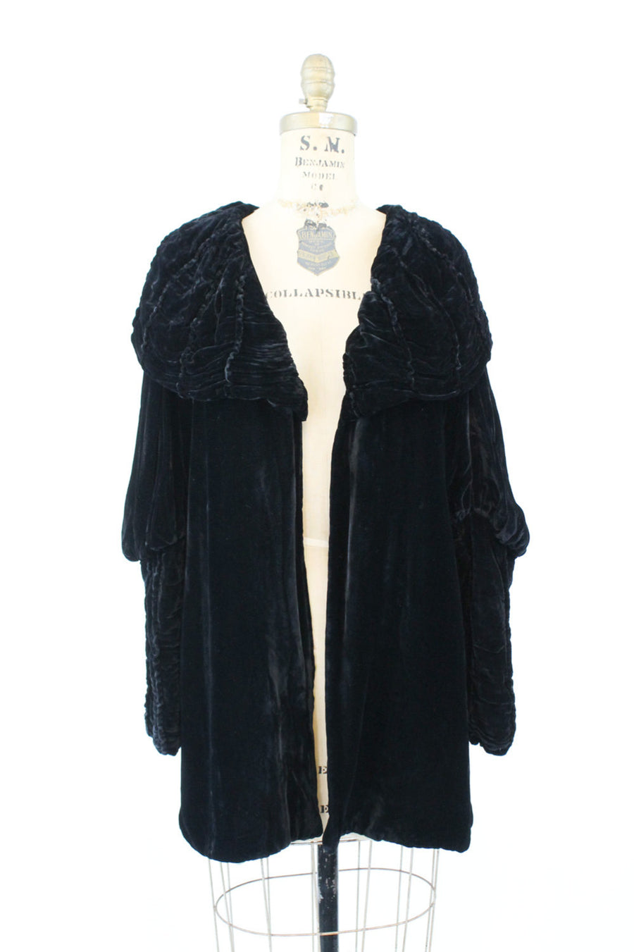 1920s silk velvet jacket xs small | vintage jacket leg o' mutton sleeves