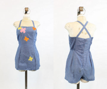 1950s Gabar romper playsuit medium | vintage swimwear