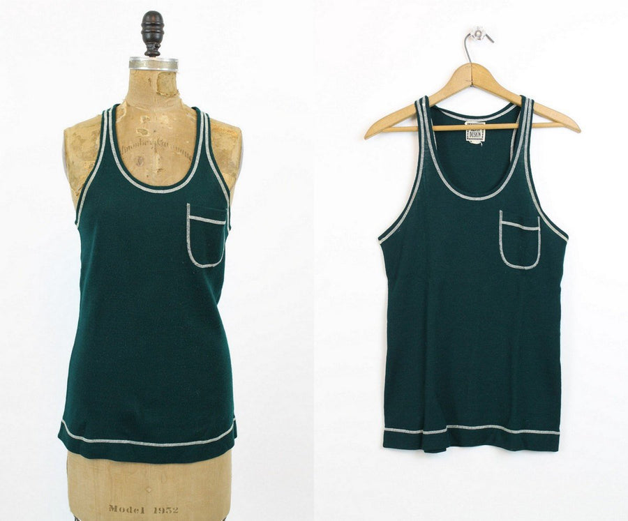 1960s Alvin Duskin tank top | vintage racer back top | small medium