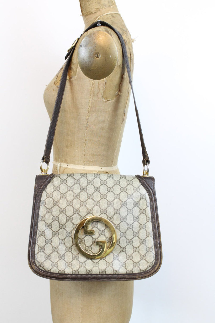 1970s Gucci monogram blondie shoulderbag | vintage gucci purse