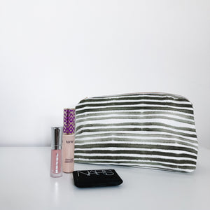Caitlin Olive Green Holiday Makeup Bag