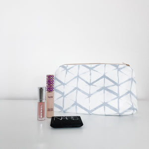 Emma Powder Blue Holiday Makeup Bag