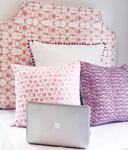 Victoria Headboard in Light Pink