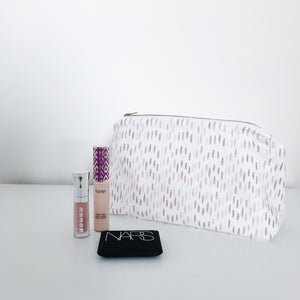 Maggie Dusty Rose & Blush Makeup Bag
