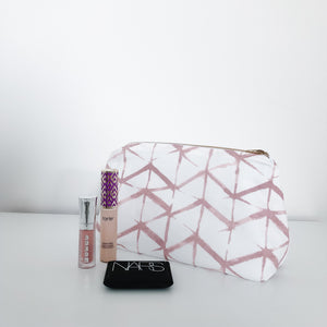 Emma Dusty Rose Makeup Bag