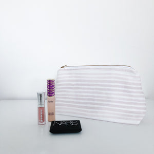 Caitlin Blush Pink Holiday Makeup Bag