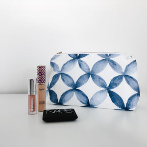 Shannon Navy Holiday Makeup Bag