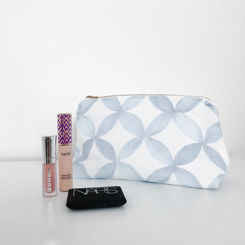 Shannon Powder Blue Makeup Bag