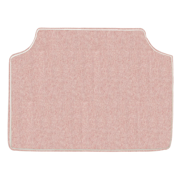 Dusty Rose w/ White Pipe Headboard