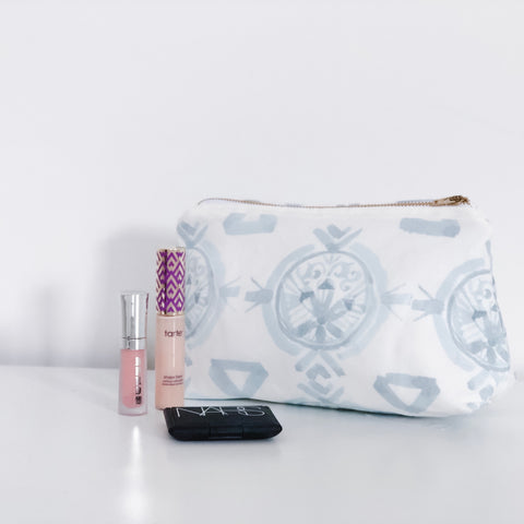 Claire Powder Blue Holiday Makeup Bag