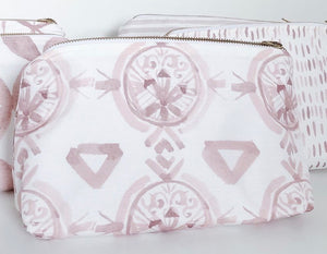 Claire Dusty Rose Holiday Makeup Bag