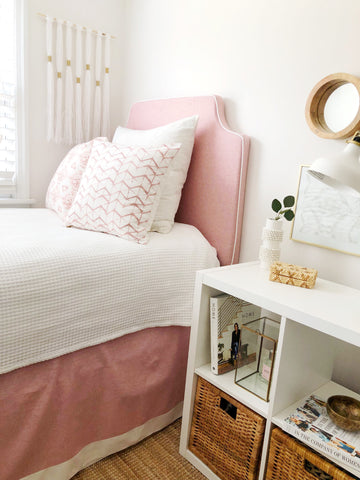 Dusty Rose 3 Panel Bedskirt