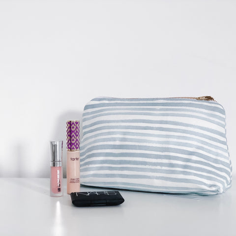 Caitlin Powder Blue Holiday Makeup Bag