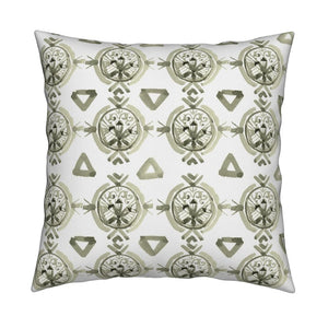 Claire Olive Green Pillow Cover