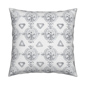 Claire Pewter Gray Pillow Cover