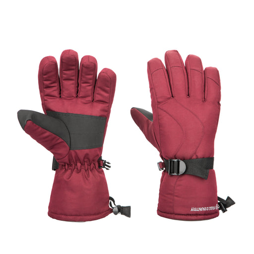 Free Country Winter Ski Gloves for Women (Wine)
