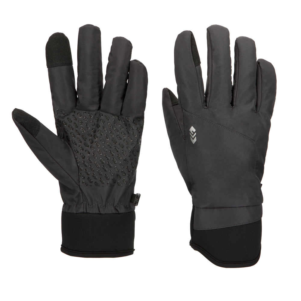 Free Country Softshell Winter Gloves for Men (Charcoal)