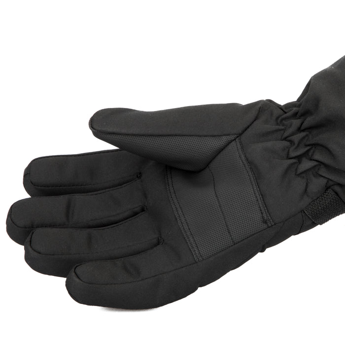Free Country Winter Ski Gloves for Men (Black)