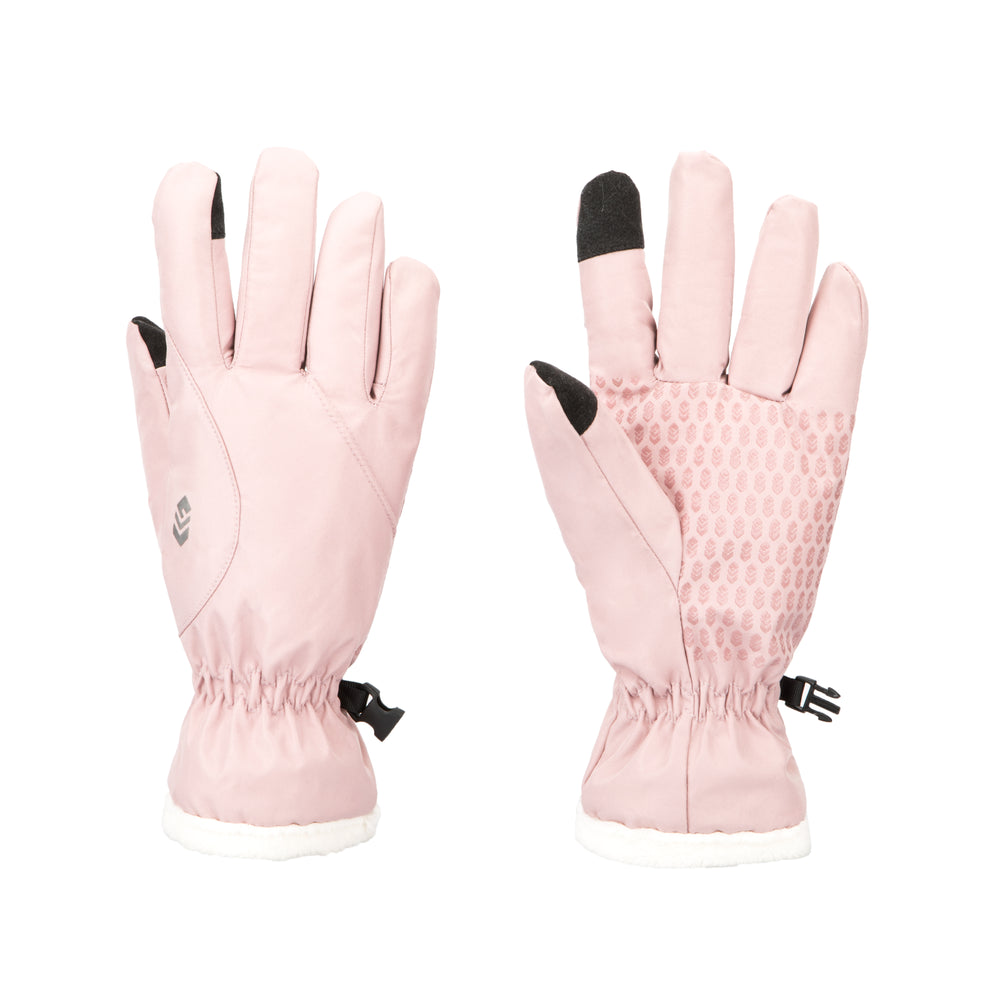 Free Country Softshell Winter Gloves for Women (Blush)