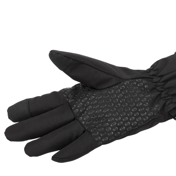 Free Country Softshell Winter Gloves for Women (Black)