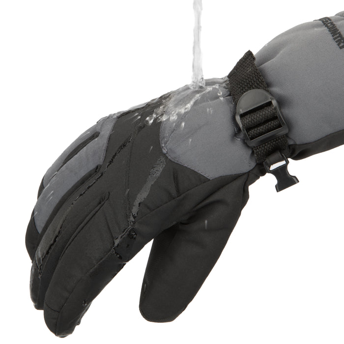 Free Country Winter Ski Gloves for Men (Charcoal)