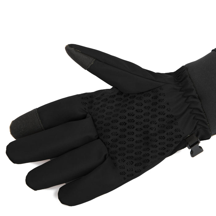 Free Country Softshell Winter Gloves for Men (Black)