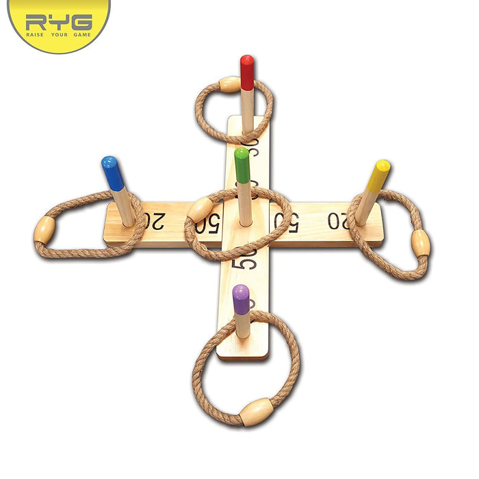 Wooden Ring Toss Game Set