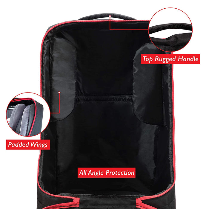 Simple Being Car Seat Travel Bag (Black with Wheels)
